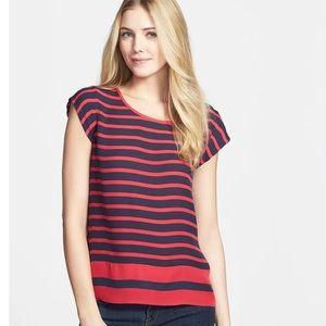 Joie Terry B stripe silk top size XS